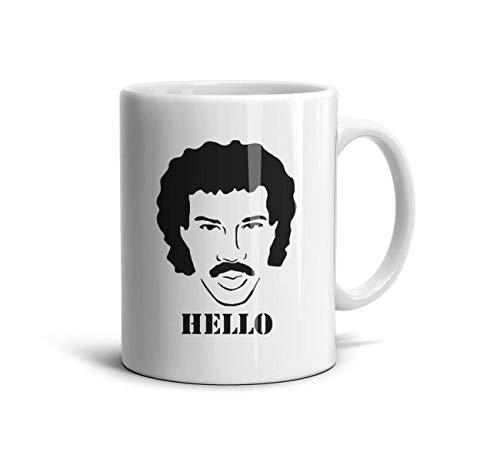 - WaveC Lionel-Richie-Hello- Classic Coffee Mugs 11oz Ceramic Tea Cups