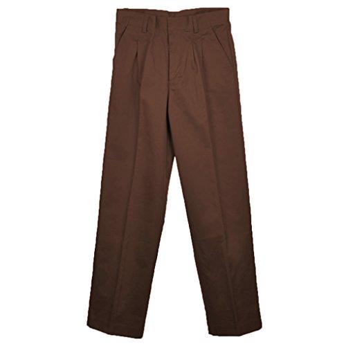 - Universal School Uniforms Boys Pleated Pant 12 Brown