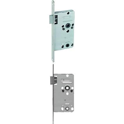ABUS 208317 - Cerradura empotrable para baño (TKB10, izquierda), color plateado +