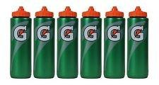 Set of 6 Gatorade Leakproof Green Orange Sport Squeeze Water Bottle 20 Oz