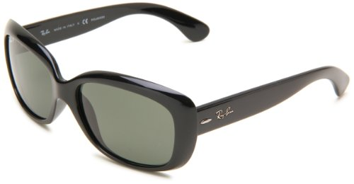 Ray-Ban 0RB4101 Square Sunglasses,Black Frame/Lens:Polarized Gray-Green Lens,One Size (Billig Ray Ban Style Sonnenbrille)