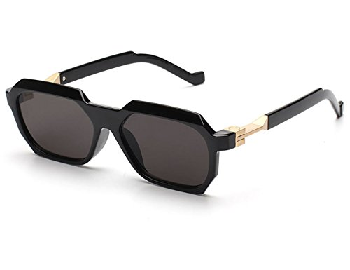 Konalla Vintage Sunglasses Rectangular Geometric Frame Unisex glasses UV400 - Sunglasses Evidence