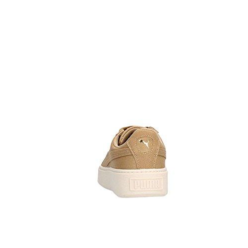PUMA bajas zapatillas de deporte de las mujeres 365 623 02 CESTA PLATAFORMA CV Camel