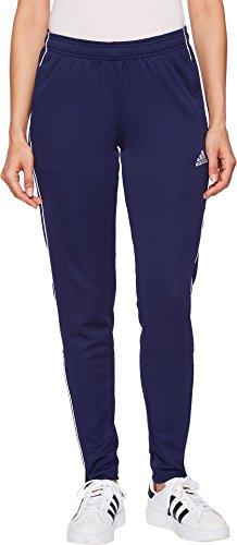 adidas Women's Core18 Training Pants, Dark Blue/White, Medium