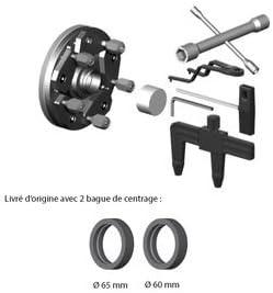 Plateau universel pour equilibreuses de roues