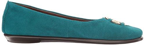 green Aerosoles Ballet Exhibet Blue Women's Suede Flat W66Cn