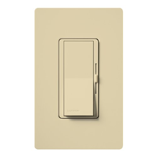 Lutron DVSTV-IV 120 - 277 Volt at 50/60 Hz 50 Milli-Amp/8 Amp 1-Pole 3-Way Dimmer Ivory Diva by Lutron