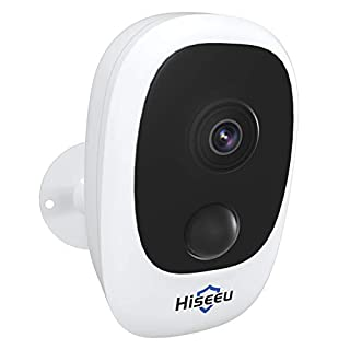 Hiseeu Battery Security Camera,Wireless Rechargeable Battery Powered WiFi Camera,Night Vision, Indoor/Outdoor, 1080P Video with Motion Detection, 2-Way Audio, Waterproof, Cloud Storage