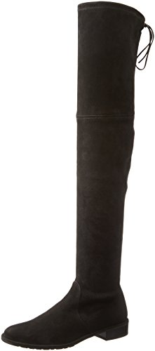Stuart Weitzman Women's Lowland Over-The-Knee Boot,Black Suede,7.5 Medium US