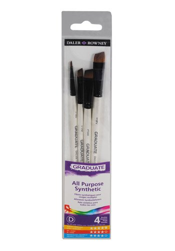 Daler Rowney Graduate 4 Brush Synthetic Shaders Set