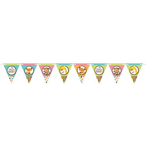 Adorable Fisher Price Jungle Animals Pennant Banner, 1 Piece, Made from Paper, Baby Shower, 6