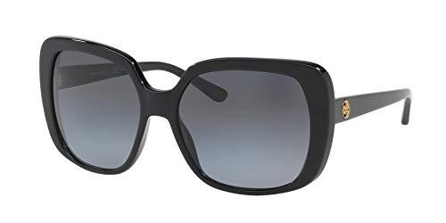 Tory Burch Women's 0TY7112 Black/Grey Gradient Polarized One ()