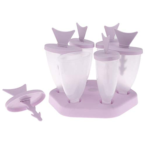 Purple Ice Cream Tropical Fish Mold Lolly Maker with Handle Stick ()