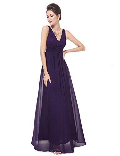 Oscuro para Corte de Mujer Pretty Ever V Escote Vestido Morado Largo 08110 Noche en Imperio wCa6Zxq