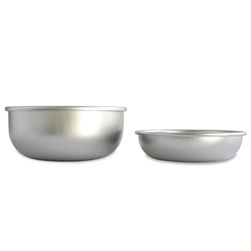 Basis Pet Made in the USA Stainless Steel Dog Bowl, Size Mix, 1 Small and 1 Medium Bowl (Best Dry Food For Shar Pei Puppy)