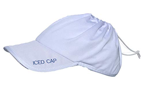 ICED Cap- Cooling Hat For Ice (4.0- White with White Trim) (Ice Cap Hat)
