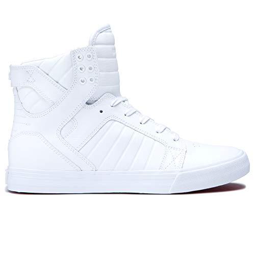 High Top Athletic Shoes - Supra Skytop Skate Shoe, White, 11 Regular US
