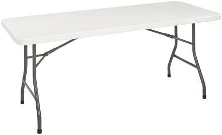 Nueva - 6 pies, mesa plegable de resina 72 W x 30d X 29 - 1/4H ...