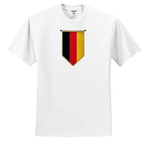 3dRose Carsten Reisinger - Illustrations - Germany Flag Pennant Vertical German Banner - Toddler T-Shirt (2T) (ts_315418_15) White