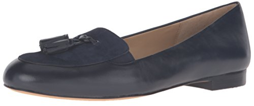 Trotters Donna Caroline Balletto Flat Navy Suede