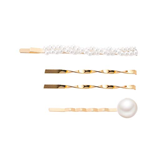 - ONLY TOP Elegant Hairpins Hair Accessory for Girls Women Lady, Bridal Weeding Pearl Jewelry Hair Clips Barrettes