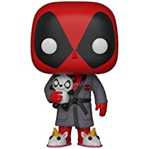 Funko POP Marvel juegos Deadpool en bata Coleccionable Figura, multicolor