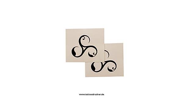 Flores Triskele símbolo – Bdsm temporal tatuaje Logo en negro ...