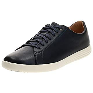 COLE HAAN Men's Grand Crosscourt II Sneaker, Navy Leather Burnished, 7 Medium US