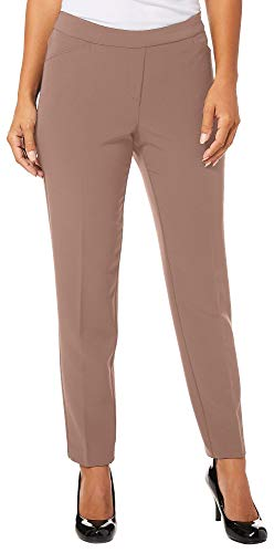 Used, Zac & Rachel Petite Solid Pull On Bond Pants 12P Taupe for sale  Delivered anywhere in USA