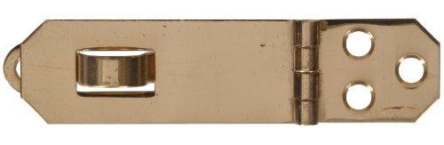 The Hillman Group 851416 3/4 x 2-3/4-Inch Solid Brass Decorative Mini Hasp, Bright, Brass Finish