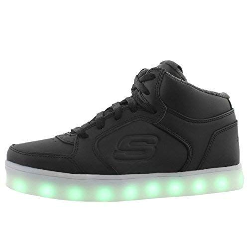 Skechers Kids Boys Energy Lights Sneaker,2.5 M US Little Kid,Black