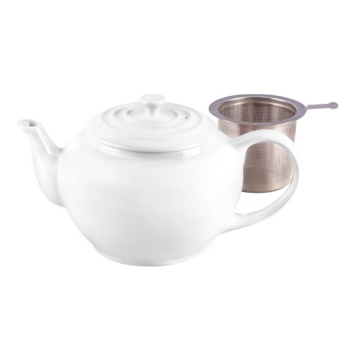 Le Creuset Stoneware Large Teapot with Stainless Steel