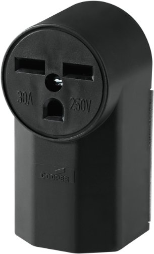 (Eaton WD1232 30-Amp 2-Pole 3-Wire 240-Volt Surface Mount Power Receptacle, Black)