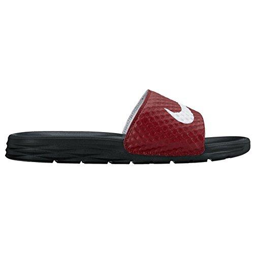 NIKE Herren Benassi Solarsoft Slide Sandale Team Rot / Weiß / Schwarz