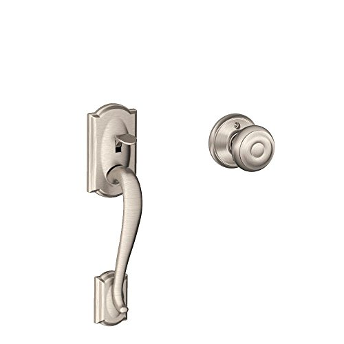 Camelot Front Entry Handle Georgian Interior Knob (Satin Nickel) FE285 CAM 619 GEO
