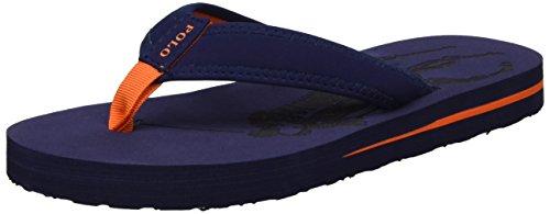 Nubuck Boys Sandals - Polo Ralph Lauren Kids Boys' Geo Flip-Flop, Geo Navy Nubuck Orange Pop, 3 M US Little Kid