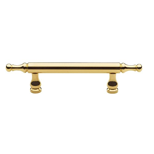 (Baldwin 4475.030.BIN Spindle Cabinet Pull, Polished Brass - Lacquered)
