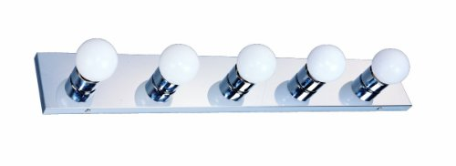 Design House 509653 5 Light Vanity Light, Polished Chrome - Chrome Vanity Bar