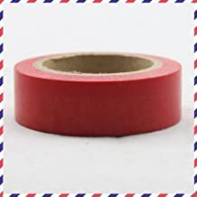 Washi Tape plain red 1 roll of paper tape 10m x 1.5 cm by somi