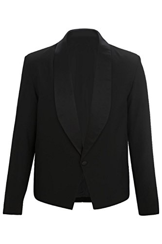 (Averill's Sharper Uniform Men's Eton Server Jacket, XL, Black)