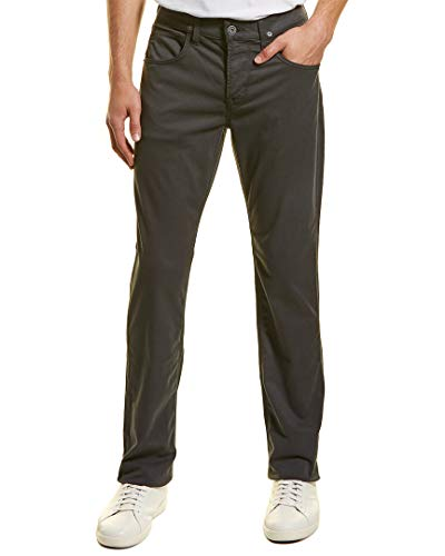 Hudson Jeans Men's Byron Straight Zip Fly Twill, Metal, 33