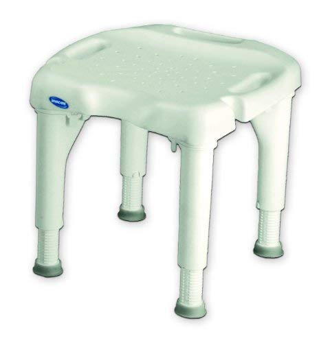Invacare Shower Chair With Microban White/400 lb./Height Adjusts 15 to 21 in./