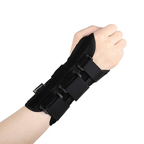 Splint Removable (DISUPPO Wrist Brace Support Carpal Tunnel Night with Removable Splint for Hand Women Men, Arthritis, Tendonitis, Relief for Rsi, Cubital Tunnel, Wrist Sprains, Support Injuries Recovery-Right …)