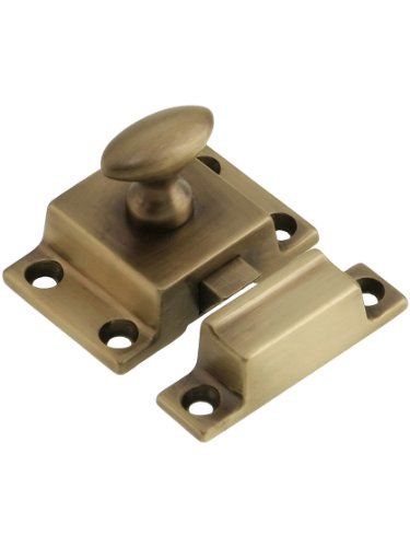 Small Cast Brass Cupboard Latch in Antique-by-Hand