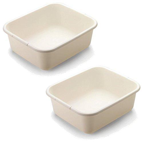 Rubbermaid 2951-AR BISQUE 11.4 QT Bisque Dish Pan (2-Pack) (Large Bisque Rubbermaid)