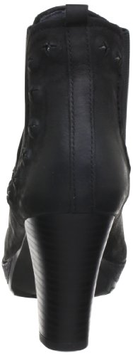 Mujer Cuero Botines black Chelsea Elba Schwarz 100 Marc De Shoes Negro XwYqE4