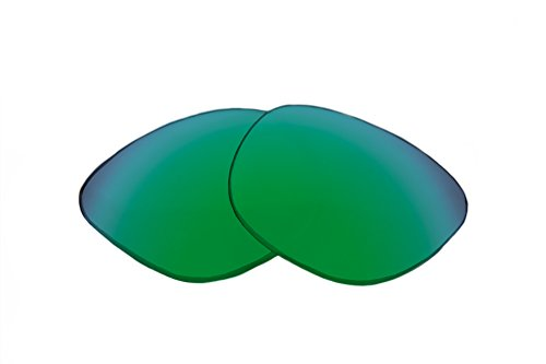 SFx Replacement Sunglass Lenses fits Fox The Aliator 65mm Wide (Ultimate Grn-Yellow Mirror Green Pair-Polarized)