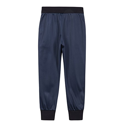 UNACOO Boys Active Basic Jogger Breathable Fleece Lined Pants (Navy, XL(11-12T)) by UNACOO (Image #1)