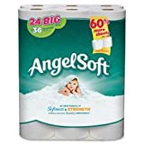 Angel Soft PS – Bathroom Tissue, 2-Ply, 198 Shts, 24RL/PK, White, Sold as 1 Package, GEP 77239PK