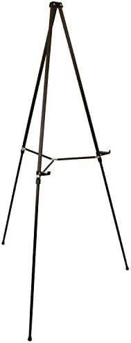 US Art Supply 66 inch Tall Showroom Large Black Aluminum Display & Presentation Floor Easel (1-Easel)